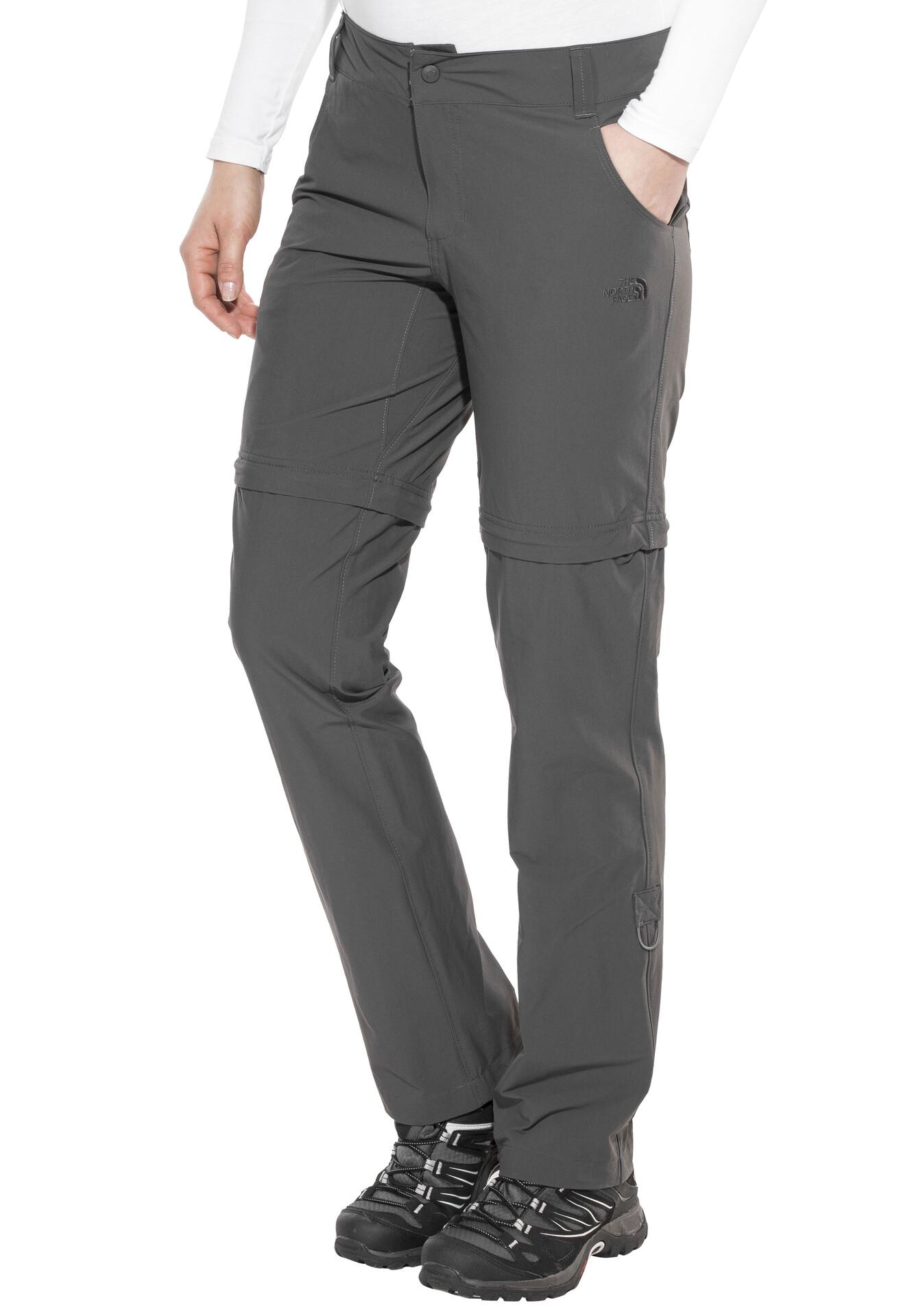 The Pantalon Grey Face Fermeture Éclair Avec Convertible Normal Exploration North FemmeAsphalt WIH9ED2Y